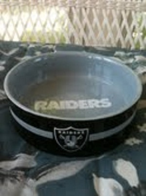 NFL Oakland Raiders Pet Bowl / Ashtray