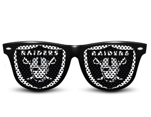 NFL Oakland Raiders Gameday Wayfarer Sun Glasses Team Logo Series Sunglasses