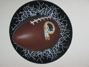 NFL Washington Redskins Sportz Splatz Football Window Decal